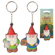 Gnome (Pack Of 6) Novelty PVC Keyring