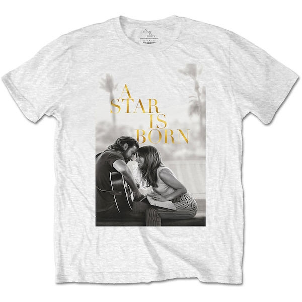 A Star Is Born - Jack & Ally Movie Poster Unisex Large T-Shirt - White