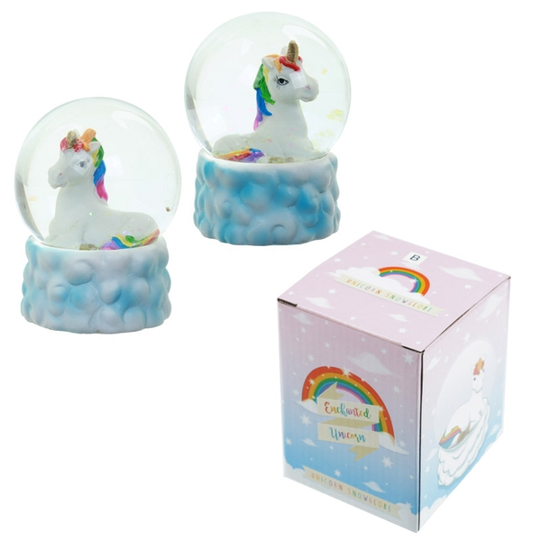 Cute Rainbow Unicorn Snow Globe