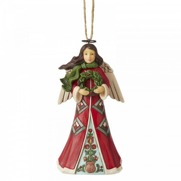 Angel with Wreath Hanging Ornament