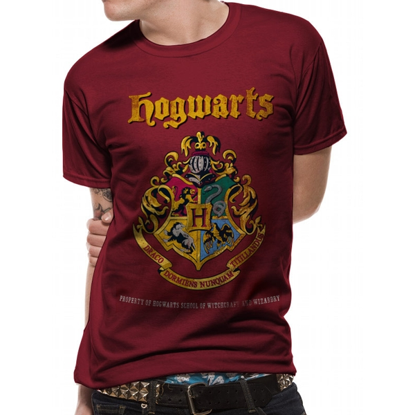 Harry Potter - Hogwarts Property Crest Men's X-Large T-Shirt - Red