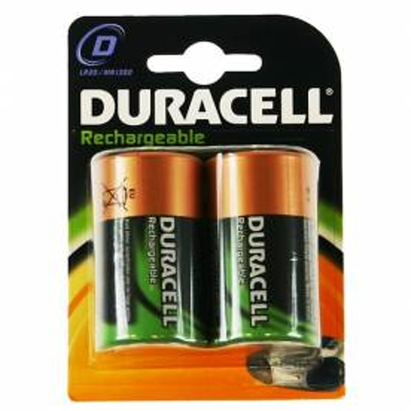 Duracell Rechargeable D Size 2 Pack Batteries