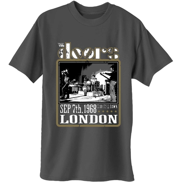 The Doors - Roundhouse London Men's Large T-Shirt - Charcoal Grey