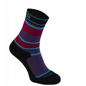 Bridgedale Children's Merinofusion Hiker Socks Purple and Black Large