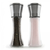 (Damaged Packaging) Set of 2 Salt & Pepper Grinders | Pair of Adjustable Coarseness Spice Mills | M&W