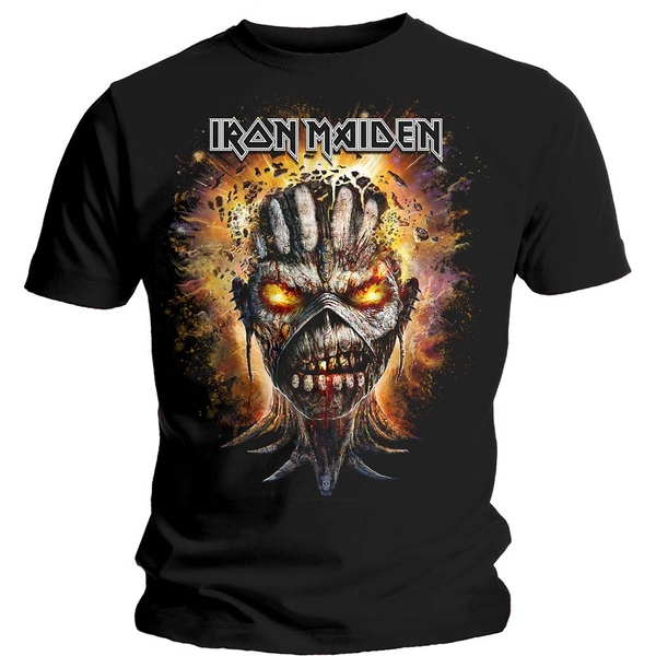 Iron Maiden - Eddie Exploding Head Unisex Medium T-Shirt - Black