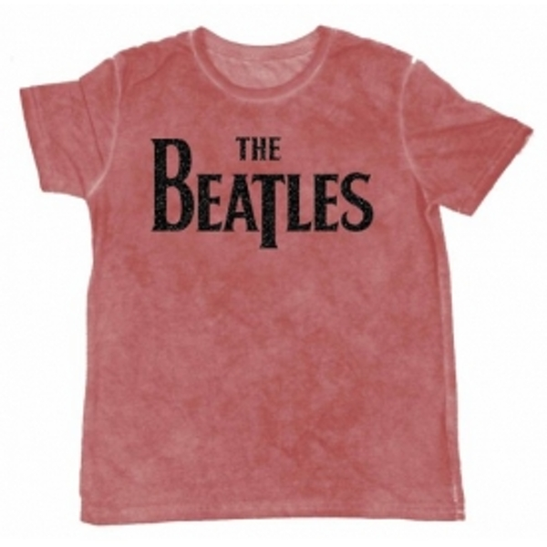 The Beatles Drop T Burnout Mens Maroon Tshirt: Large