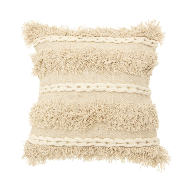Sass & Belle Blanca Tufted Stripe Cushion