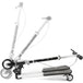Xootz Kids Y Flicker Scissor Scooter, Folding 3 Wheel Tri Drifter Scooter with Adjustable Handlebars - Black/White - Image 3