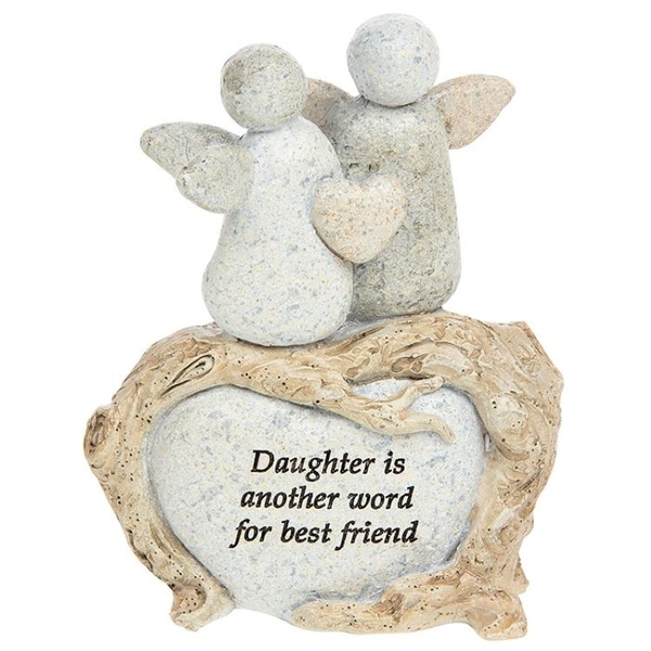 Pebble Art Angel Daughter Ornament