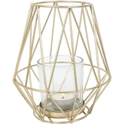 Medium Geometric Gold Tealight Holder