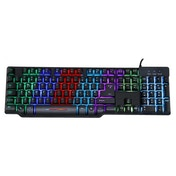 Powercool MECH1 Mechanical Feel Keyboard 7 Colour LED Metal Backplate USB Retail