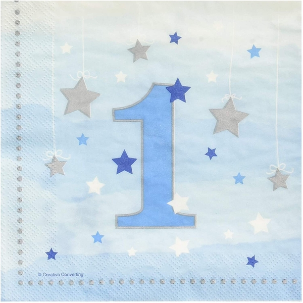 Twinkle Little Star Number 1 Birthday Napkins (Pack Of 16)