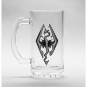 Skyrim Dragon Symbol Glass Stein