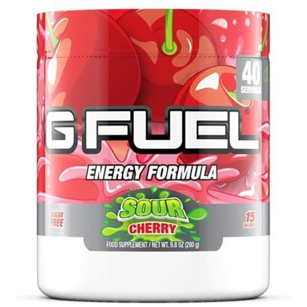 G Fuel Sour Cherry Tub (40 Servings) Elite Energy and Endurance Formula