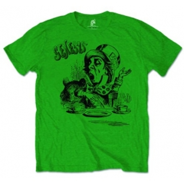Genisis Mad Hatter Mens Green Tshirt: Large