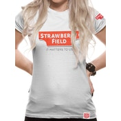 Strawberry Field - Logo Women's Large T-Shirt - White