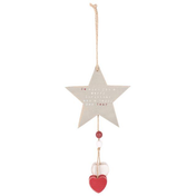 Wooden Star Christmas Hanging Decoration