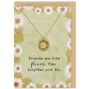Friends Are Like Flowers Necklace And Card Set Pack Of 15