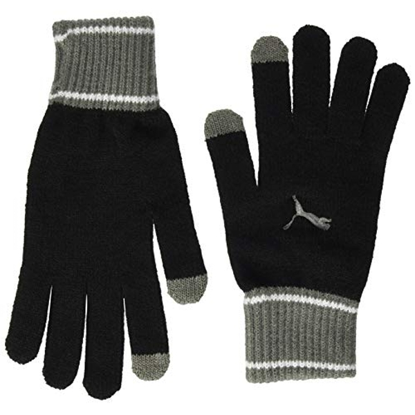 Puma Knit Gloves (Pair) Medium Black/Grey