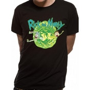 Rick And Morty - Black Portal Men's Small T-Shirt - Black
