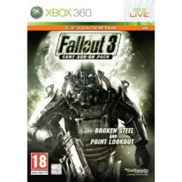 Fallout 3 Add-On Pack Broken Steel and Point Lookout Game Xbox 360