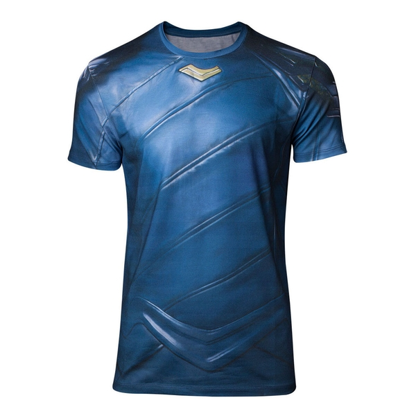 Thor Ragnarok - Loki Armor Sublimation Men's Large T-Shirt - Blue