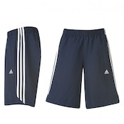 Adidas 3 Stripe Chelsea Shorts Navy & White Large
