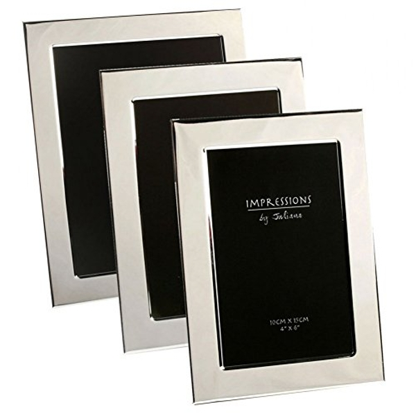 """5"""" x 7"""" - Impressions Silver Plated Photo Frame"""