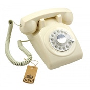 GPO 1970's Retro Style Telephone with Rotary Dial Ivory