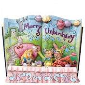 Disney Traditions Merry Unbirthday Storybook Alice in Wonderland Tea Party Figurine