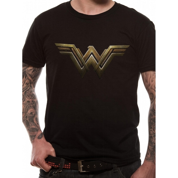 Wonder Woman Movie - Main Logo Men's Large T-Shirt - Black