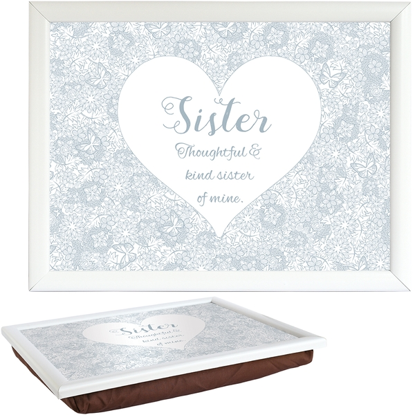 Said with Sentiment Lap Trays Sister