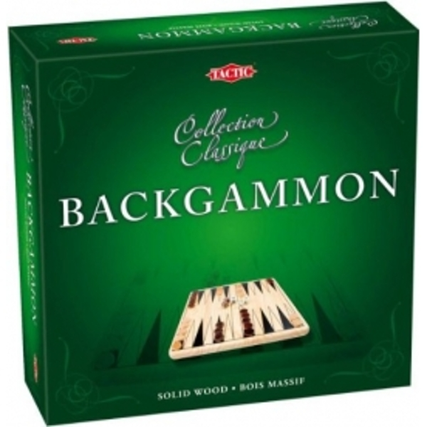Backgammon Wooden Classic Board Game - Image 1