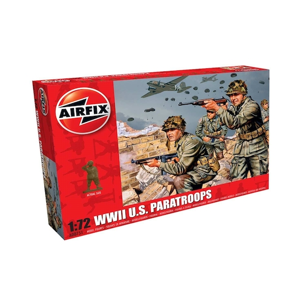 WWII US Paratroops Series 0 1:76 Air Fix Figures