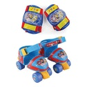 Paw Patrol Adjustable Size 7-11 Quad Skates with Knee Pads & Elbow Pads Protection Pack