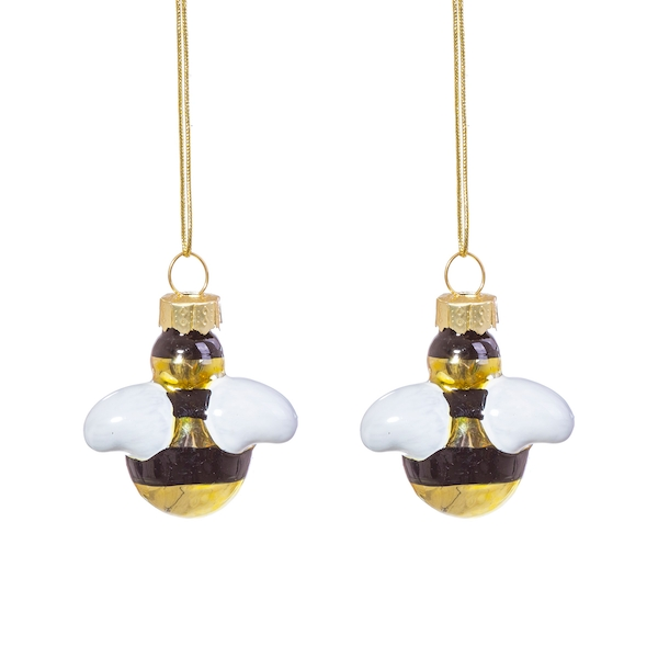 Sass & Belle (Set of 2) Bee Shaped Mini Bauble
