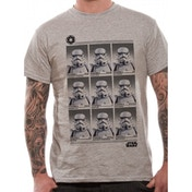 Star Wars - Trooper Yearbook Men's X-Large T-Shirt - Grey