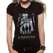 Supernatural - Group Outline (Fitted) Black X-Large