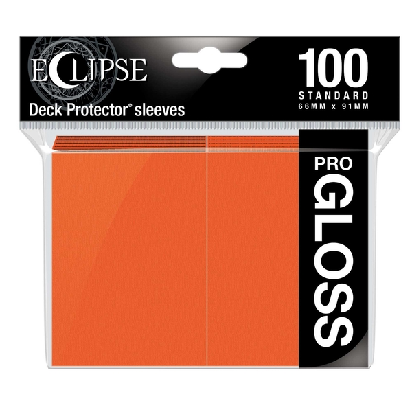 Ultra Pro Eclipse Pumpkin Orange Gloss Standard Sleeves - 100 Sleeves
