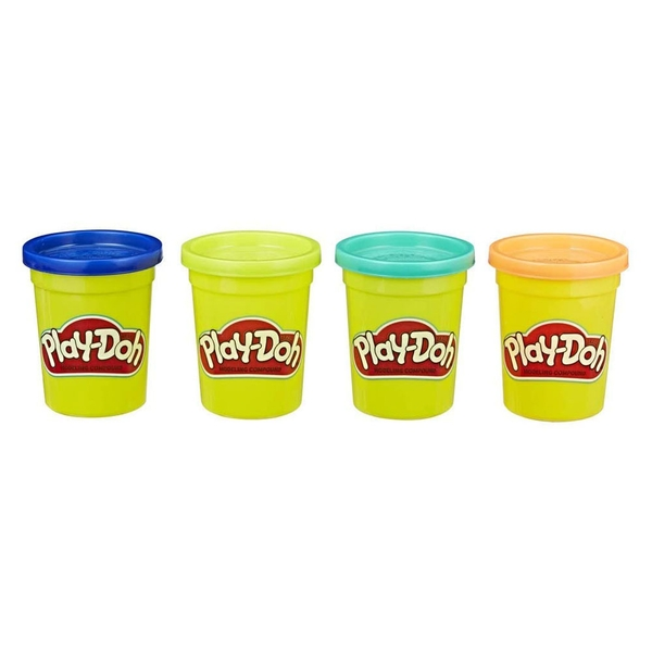 Play-Doh Wild Colour Tubs (Pack Of 4)