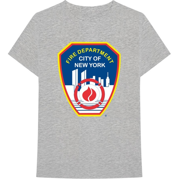 New York City - Fire Dept. Badge Unisex X-Large T-Shirt - Grey