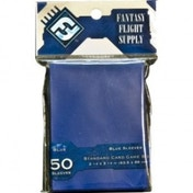 Fantasy Flight Supply 50 Blue Sleeves Standard Card Game Size - 10 Packs