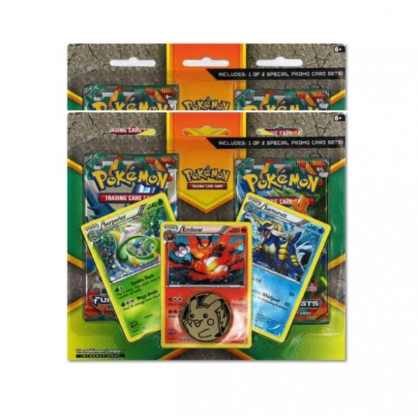 Pokemon TCG Enhanced 2 Pack ( 2 Booster Packs, 3 Promo Cards and 1 Coin)