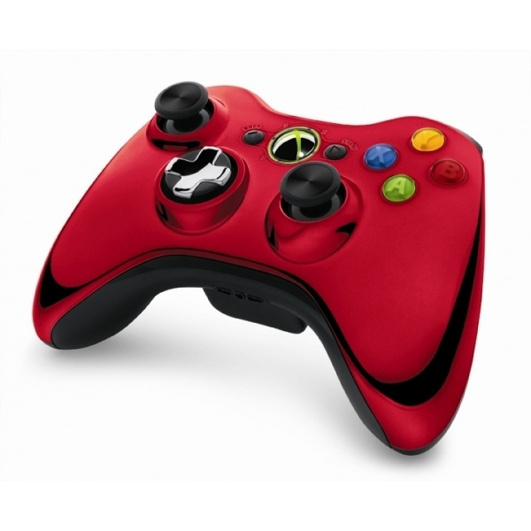 Ex-Display Official Microsoft Red Chrome Wireless Controller Xbox 360 Used - Like New - Image 2
