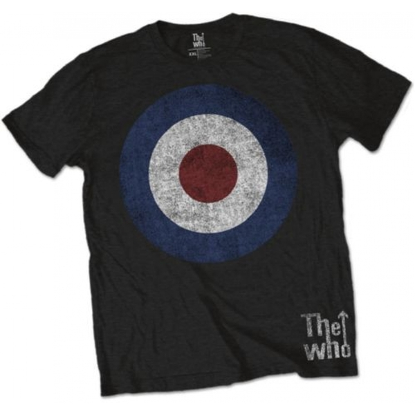 The Who - Target Distressed Men's Medium T-Shirt - Black
