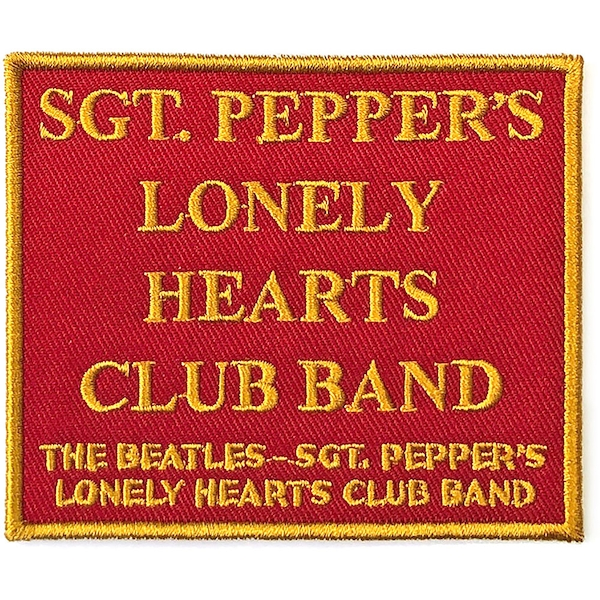The Beatles - Sgt. Pepper's?.Red Standard Patch