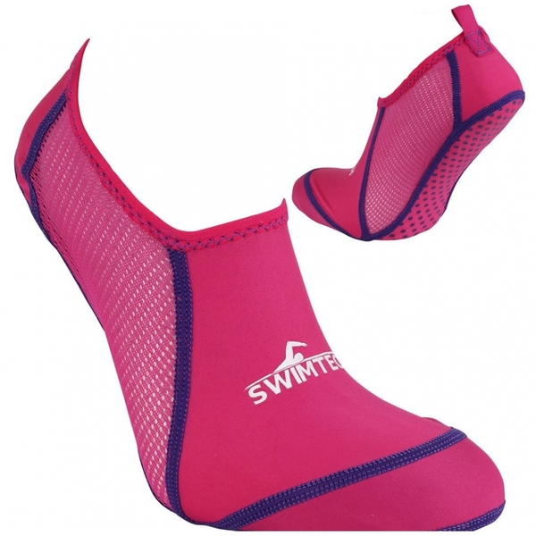 SwimTech Pool Sock Pink UK Junior 10-13