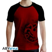 Game Of Thrones - Targaryen Red & Men's Large T-Shirt - Red & Black