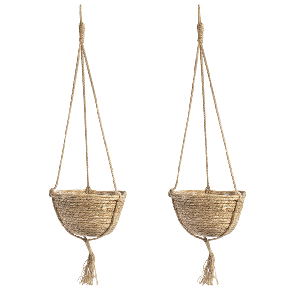 Hanging Seagrass Planter - Set of 2 | M&W